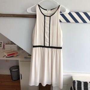 NWT white and black midi dress